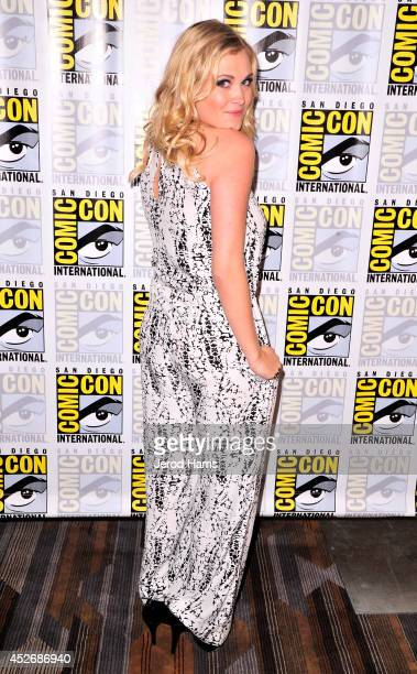 Actress Eliza Taylor attends 'The 100' Press Line during ComicCon International 2014 at Hilton Bayfront on July 25 2014 in San Diego California