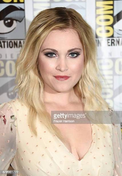 Actress Eliza Taylor attends The 100 Press Line during ComicCon International 2016 at Hilton Bayfront on July 22 2016 in San Diego California