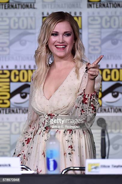 Actress Eliza Taylor attends 'The 100' Special Video Presentation And QA during ComicCon International 2016 at San Diego Convention Center on July 22...