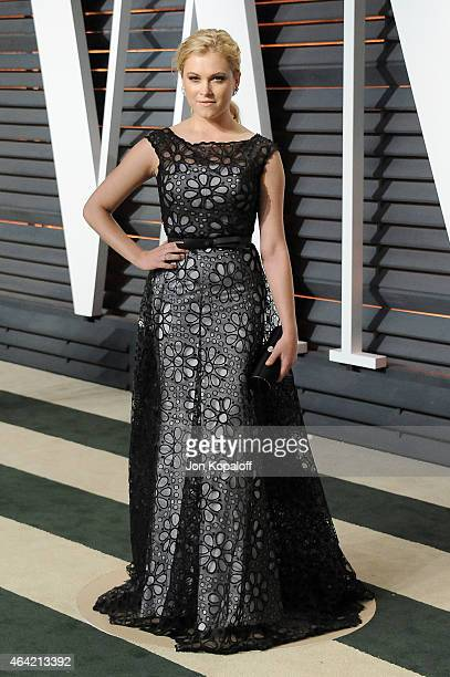 Actress Eliza Taylor attends the 2015 Vanity Fair Oscar Party hosted by Graydon Carter at Wallis Annenberg Center for the Performing Arts on February...