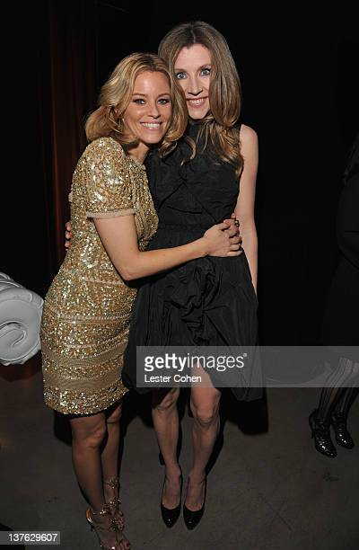 Actress Elizabeth Banks and actress Sarah Chalke attend the after party for the Los Angeles premiere of Man on a Ledge at Grauman's Chinese Theatre...