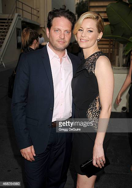 Actress Elizabeth Banks and husband Max Handelman arrive at the Los Angeles premiere of Hulu's Resident Advisors at Sherry Lansing Theatre at...
