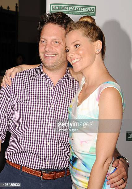 Actress Elizabeth Banks and husband Max Handelman attend the 2014 LA's Promise Gala honoring exemplary advocates of education at The Globe Theatre at...