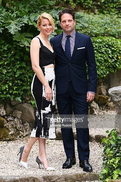 Actress Elizabeth Banks and Max Handelman attend the 'Pitch Perfect 2' photocall De Russie on April 27 2015 in Rome Italy