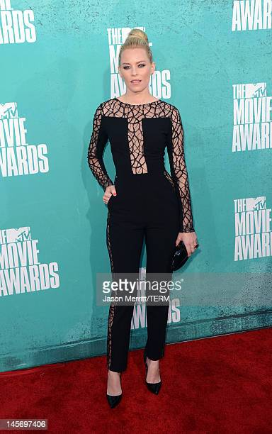Actress Elizabeth Banks arrives at the 2012 MTV Movie Awards held at Gibson Amphitheatre on June 3 2012 in Universal City California
