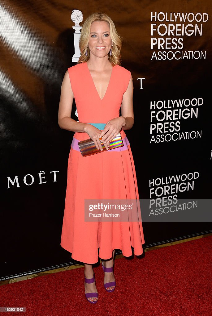 Actress Elizabeth Banks arrives at the Hollywood Foreign Press Association Hosts Annual Grants Banquet at the Beverly Wilshire Four Seasons Hotel on August 13, 2015 in Beverly Hills, California.
