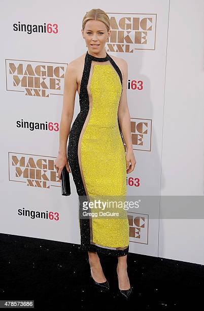 Actress Elizabeth Banks arrives at the Los Angeles World Premiere of Warner Bros Pictures' 'Magic Mike XXL' at TCL Chinese Theatre IMAX on June 25...