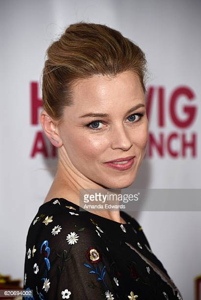 Actress Elizabeth Banks arrives at the Opening Night of Hedwig and The Angry Inch at the Pantages Theatre on November 2 2016 in Hollywood California