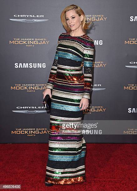 Actress Elizabeth Banks arrives at the premiere of Lionsgate's 'The Hunger Games: Mockingjay - Part 2' at Microsoft Theater on November 16, 2015 in...