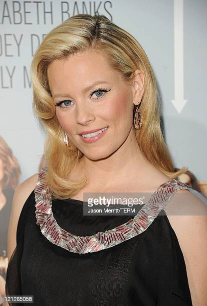 Actress Elizabeth Banks arrives at the premiere of Our Idiot Brother hosted by The Weinstein Company and Ron Burkle held at ArcLight Cinemas on...