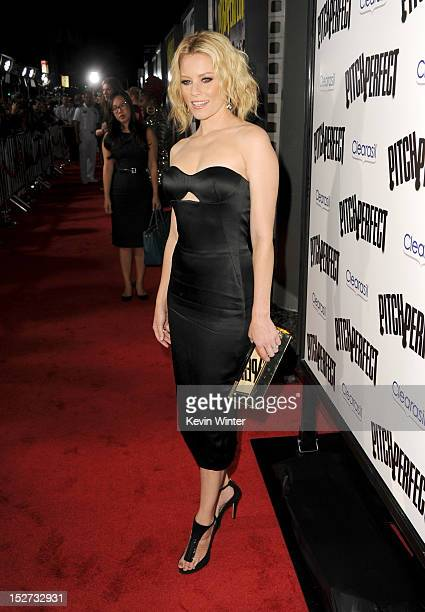 Actress Elizabeth Banks arrives at the premiere of Universal Pictures And Gold Circle Films' Pitch Perfect at ArcLight Cinemas on September 24 2012...