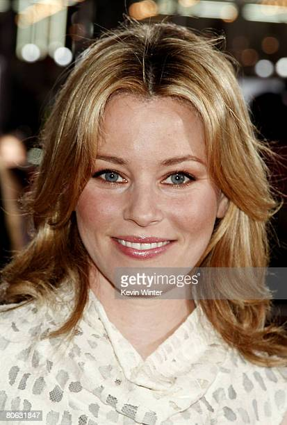 Actress Elizabeth Banks arrives at the premiere of Universal Picture's Forgetting Sarah Marshall at the Chinese Theater on April 10 2008 in Los...