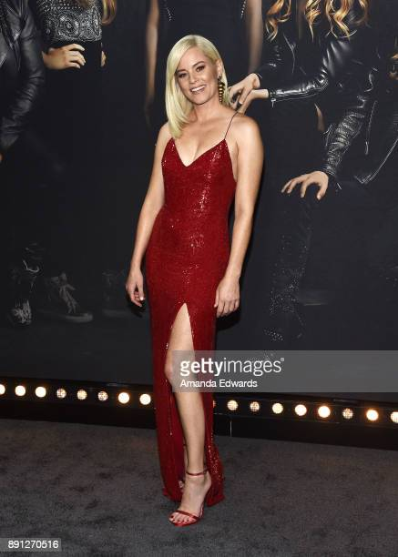 Actress Elizabeth Banks arrives at the premiere of Universal Pictures' 'Pitch Perfect 3' on December 12 2017 in Hollywood California