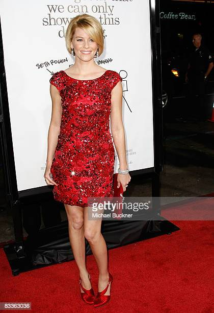 Actress Elizabeth Banks arrives at the premiere of Weinstein Company's Zack and Mira Make A Porno at Grauman's Chinese Theater on October 20 2008 in...