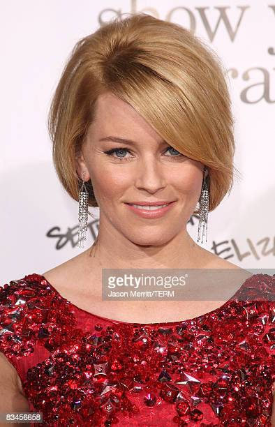 Actress Elizabeth Banks arrives at the Zack and Miri Make a Porno Los Angeles on October 20 2008 in Hollywood California
