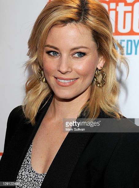 Actress Elizabeth Banks arrives for Malaria No More Presents Hollywood Bites Back at Club Nokia on April 16 2011 in Los Angeles California