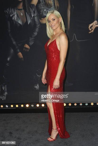 Actress Elizabeth Banks arrives for the Premiere Of Universal Pictures' 'Pitch Perfect 3' held at The Dolby Theater on December 12 2017 in Hollywood...