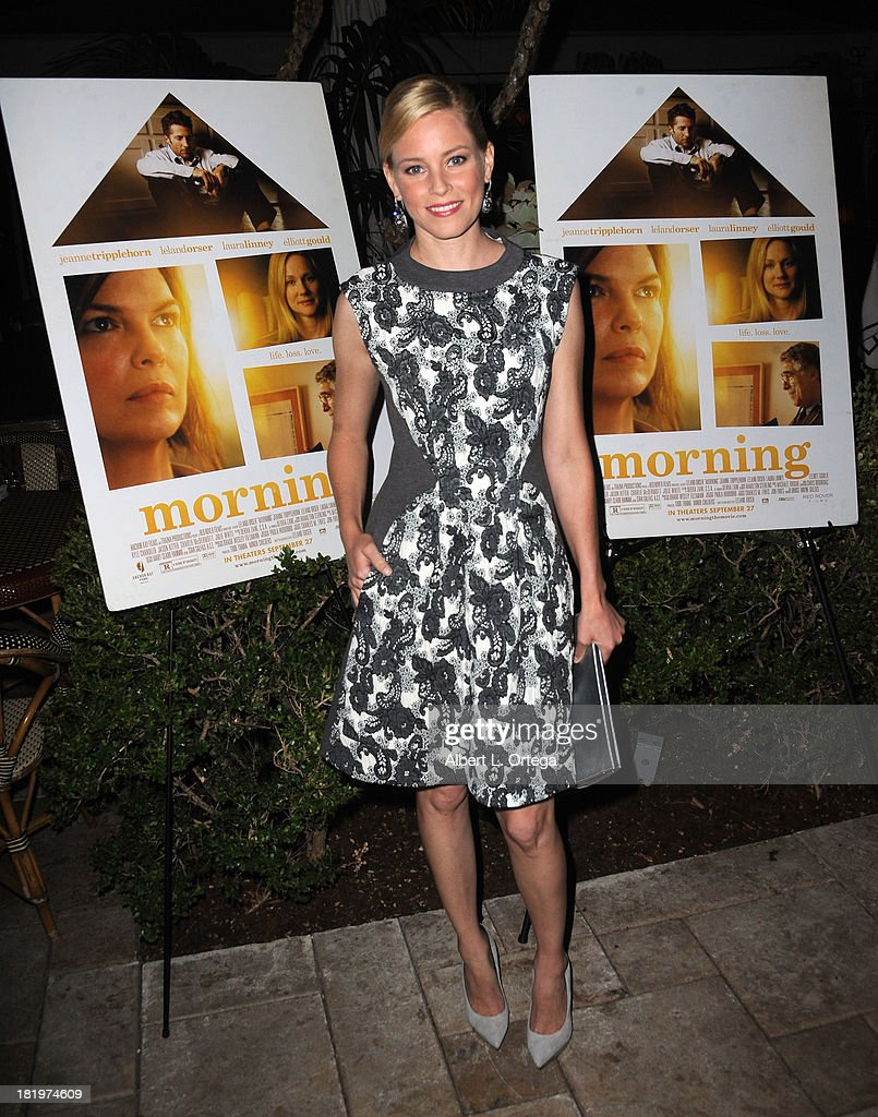 Actress Elizabeth Banks attends C Magazine Dinner And Reception Celebrating Leland Orser's 'Morning' held at Chateau Marmont on September 26, 2013 in West Hollywood, California.