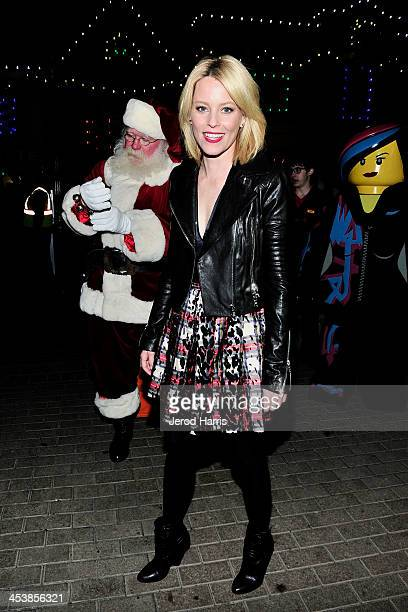 Actress Elizabeth Banks attends LEGOLAND California resort's annual tree lighting ceremony at LEGOLAND on December 5 2013 in Carlsbad California