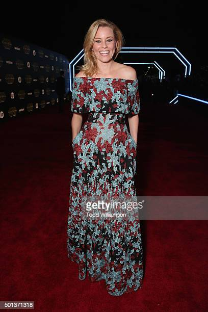 Actress Elizabeth Banks attends Premiere of Walt Disney Pictures and Lucasfilm's Star Wars The Force Awakens on December 14 2015 in Hollywood...
