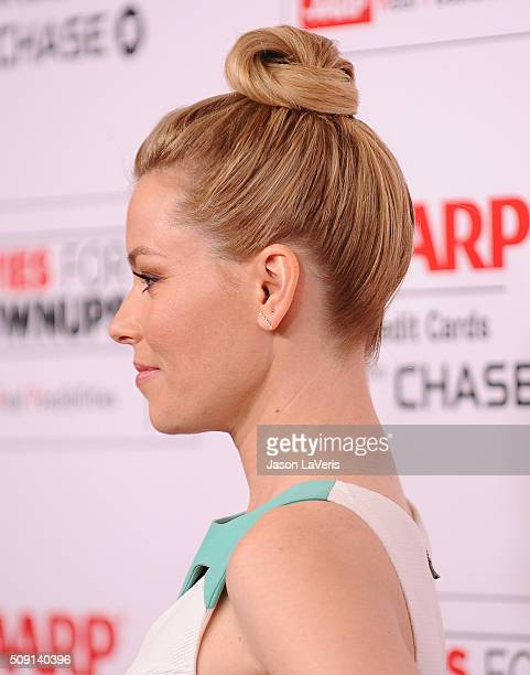Actress Elizabeth Banks attends the 15th annual Movies For Grownups Awards at the Beverly Wilshire Four Seasons Hotel on February 8 2016 in Beverly...