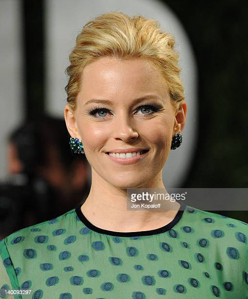 Actress Elizabeth Banks attends the 2012 Vanity Fair Oscar Party at Sunset Tower on February 26 2012 in West Hollywood California