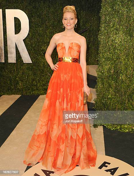 Actress Elizabeth Banks attends the 2013 Vanity Fair Oscar party at Sunset Tower on February 24 2013 in West Hollywood California