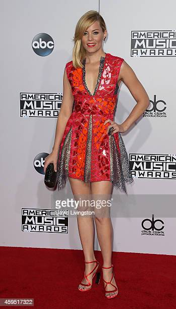 Actress Elizabeth Banks attends the 42nd Annual American Music Awards at the Nokia Theatre LA Live on November 23 2014 in Los Angeles California
