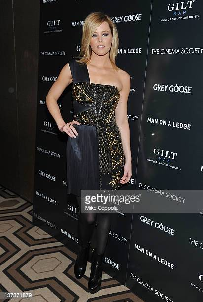 """Actress Elizabeth Banks attends The Cinema Society & Gilt Man with Grey Goose screening of """"Man on a Ledge"""" at the Tribeca Grand Hotel on January 19,..."""