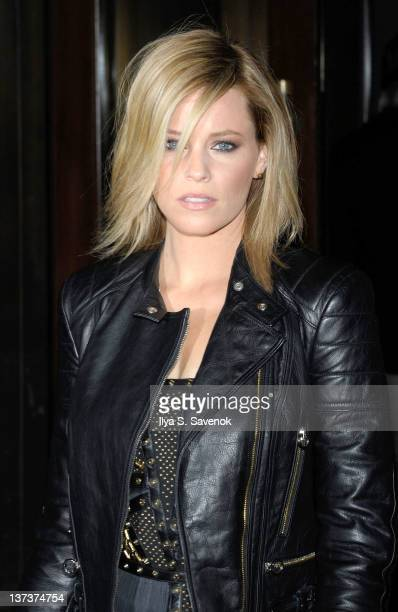 Actress Elizabeth Banks attends The Cinema Society Gilt Man with Grey Goose screening of Man on a Ledge at the Tribeca Grand Hotel on January 19 2012...