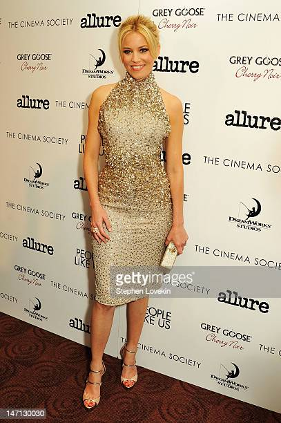 """Actress Elizabeth Banks attends the Cinema Society with Linda Wells & Allure screening of DreamWorks Studios' """"People Like Us"""" at Clearview Chelsea..."""