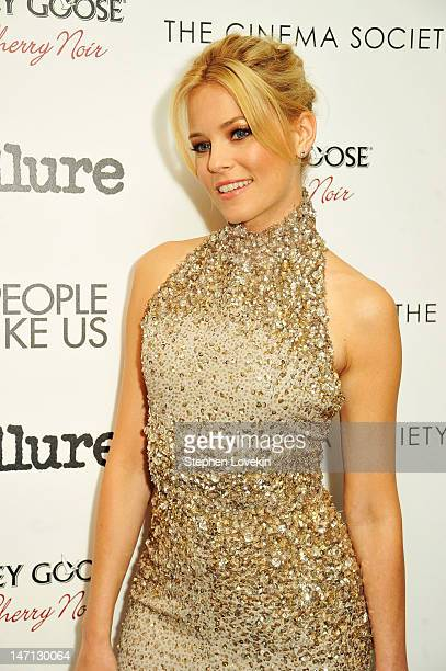 Actress Elizabeth Banks attends the Cinema Society with Linda Wells Allure screening of DreamWorks Studios' People Like Us at Clearview Chelsea...