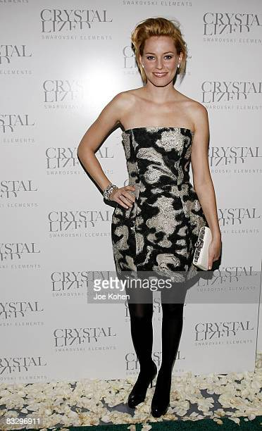 Actress Elizabeth Banks attends the Crystallized Wedding Experience at 620 Loft Garden Rockefeller Center on October 15 2008 in New York City