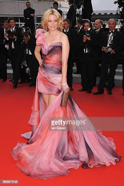 Actress Elizabeth Banks attends the Poetry Premiere at the Palais des Festivals during the 63rd Annual Cannes Film Festival on May 19 2010 in Cannes...