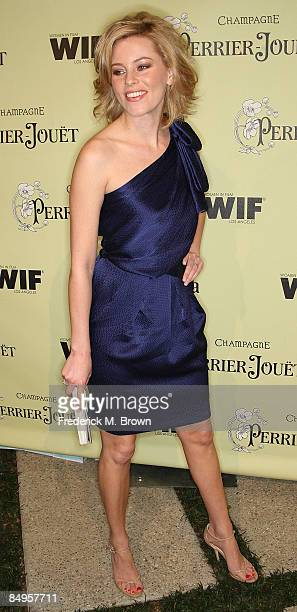 Actress Elizabeth Banks attends the second annual Women In Film PreOscar Cocktail Party at the Peter and Tara Guber estate on February 20 2009 in...