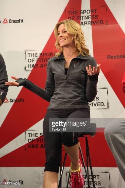 Actress Elizabeth Banks attends 'The Sport Of Fitness Has Arrived' campaign launch at 82 Mercer on January 26 2012 in New York City