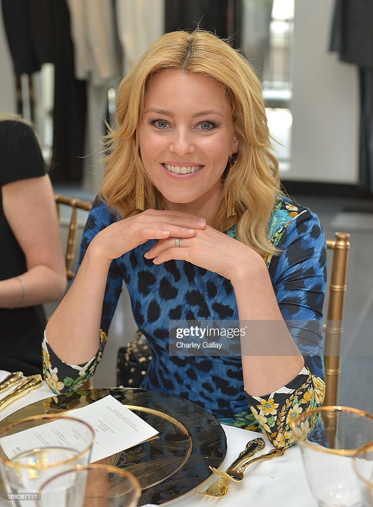 Actress Elizabeth Banks attends Versace, Vanity Fair, And Elizabeth Banks Luncheon Benefitting Vital Voices Global Partnership at Versace on May 22, 2013 in Beverly Hills, California.