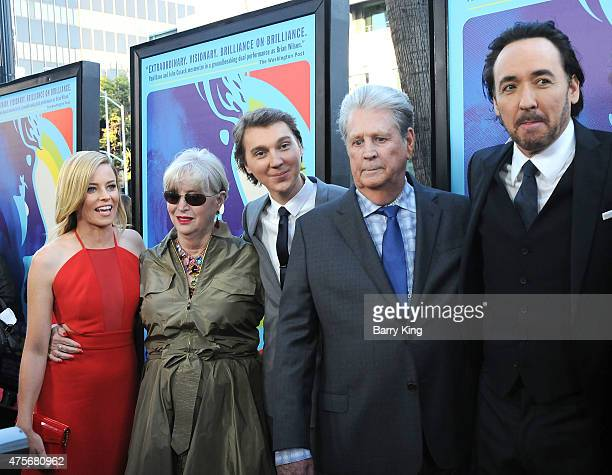 Actress Elizabeth Banks Melinda Ledbetter actor Paul Dano Musician Brian Wilson actor John Cusack attend the premiere of Lionsgate and Roadside...
