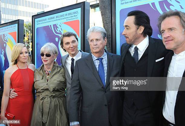 Actress Elizabeth Banks, Melinda Ledbetter, actor Paul Dano, Musician Brian Wilson, actor John Cusack and director Bill Pohlad attend the premiere of...