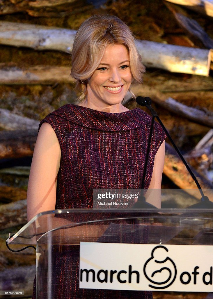 Actress Elizabeth Banks speaks onstage during the 7th Annual March of Dimes Celebration of Babies, a Hollywood Luncheon, at the Beverly Hills Hotel on December 7, 2012 in Beverly Hills, California.