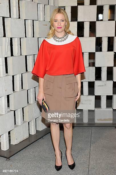 Actress Elizabeth Banks wearing Bottega Veneta attends the Hammer Museum Gala in Garden sponsored by Bottega Veneta at Hammer Museum on October 10...