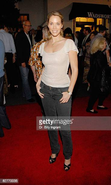 Actress Elizabeth Berkeley arrives to attend the opening night of A Bronx Tale written by and starring Chazz Palminteri recreating his tour de force...
