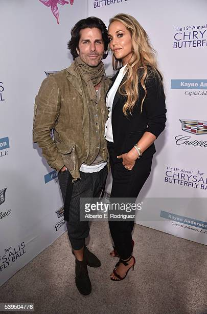Actress Elizabeth Berkley and Greg Lauren attend the 15th Annual Chrysalis Butterfly Ball at a Private Residence on June 11 2016 in Brentwood...