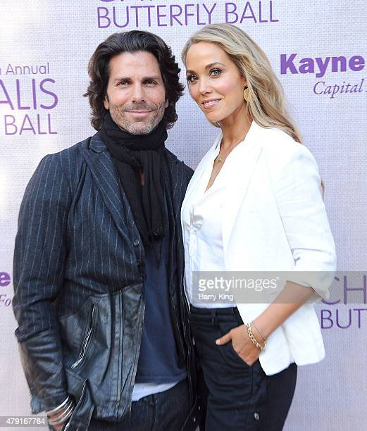 Actress Elizabeth Berkley and husband Greg Lauren attend the 14th annual Chrysalis Butterfly Ball sponsored by Audi Kayne Anderson Lauren B Beauty...