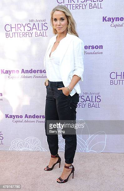 Actress Elizabeth Berkley attends the 14th annual Chrysalis Butterfly Ball sponsored by Audi Kayne Anderson Lauren B Beauty and Z Gallerie on June 6...