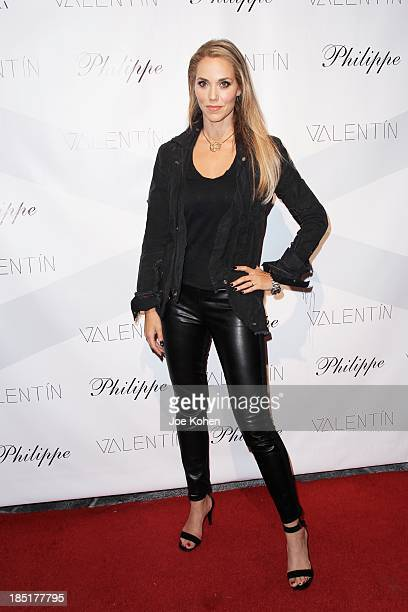 Actress Elizabeth Berkley attends Valentin Launch Party at Philippe Chow on October 17 2013 in Los Angeles California