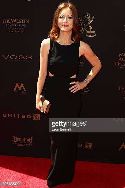 Actress Elizabeth Bogush attends the 2016 Daytime Emmy Awards Arrivals at Westin Bonaventure Hotel on May 1 2016 in Los Angeles California