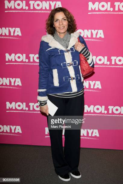 Actress Elizabeth Bourgine attends the 'I Tonya' premiere at Cinema UGC Normandie on January 15 2018 in Paris France