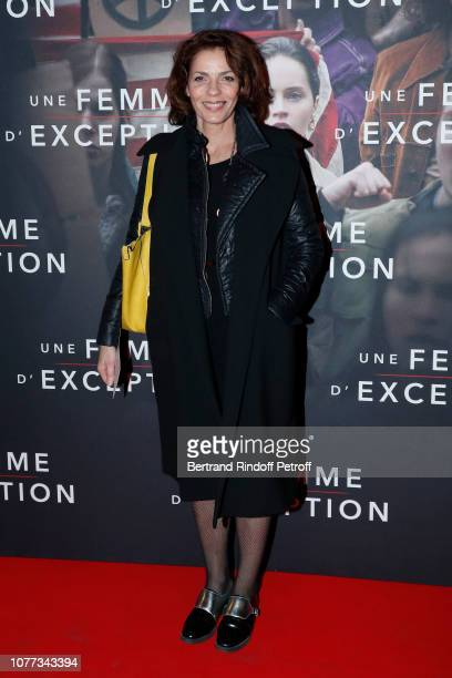 Actress Elizabeth Bourgine attends the Une Femme d'Exception On the Basis of Sex Paris Premiere at Cinema Gaumont Capucine on December 04 2018 in...