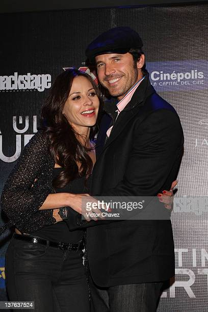 Actress Elizabeth Cervantes and actor Leonardo Garcia attend The Last Death Mexico City premiere at Cinepolis Plaza Universidad on January 23 2012 in...